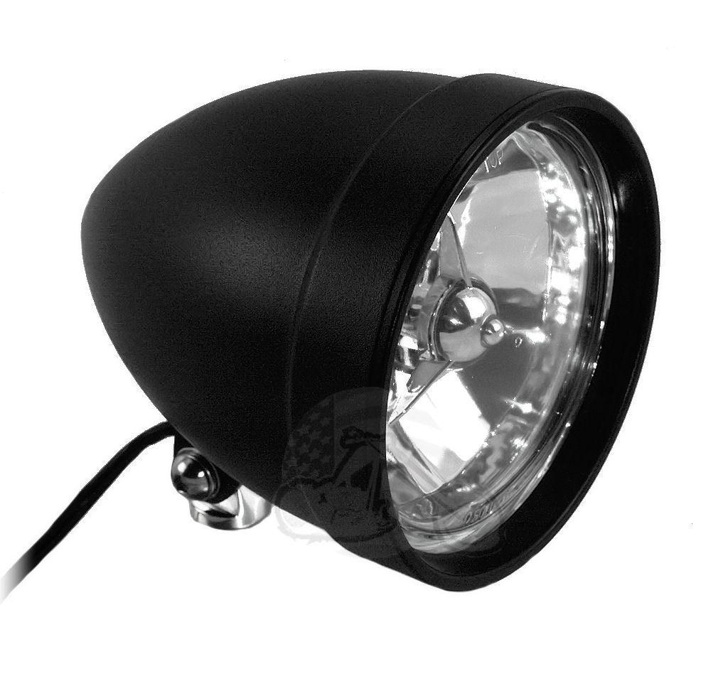 Black 5 194 190 226 Tri Bar Classic Cobra Billet Headlight Light