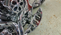CHROME BILLET FLOORBOARDS 80-16 Harley Bagger & FL Softail, FLT,FLH,