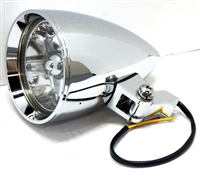 4 1/2 CHROME ROCKET HEADLIGHT