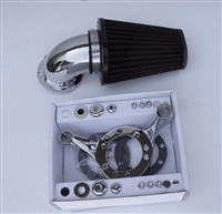 CHROME SCREAMING EAGLE STYLE AIR CLEANER FILTER KIT CV CARB HARLEY SOFTAIL DYNA TOURING