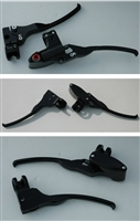 STEALTH HANDLEBAR CONTROLS KIT 11/16 MASTER BLACK USA MADE CABLE CLUTCTH