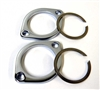 Chrome exhaust flange and retaining ring kit all models