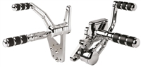 AMBUSH CHROME FORWARD CONTROLS 2000-UP SOFTAIL