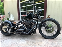 BLACK RSD BIG RADIUS STYLE EXHAUST FOR RSD BIG DOGS, AMERICAN IRONHORSE CHOPPERS SLAMMERS