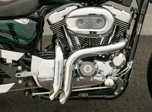 """Y PIPES SOFTAILS 1986-2017 COMES WITH 02 PORTS NEW 2/"""" CHROME  LAF EXHAUST"""