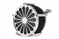 "CHROME ""SS2"" AIR CLEANER & FILTER KIT 2008-2015 TOURING FLHT/R/X HARLEY"