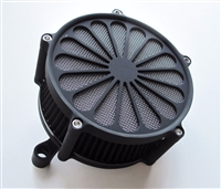 "BLACK ""SS2"" AIR CLEANER & FILTER KIT 2008-2015 TOURING FLHT/R/X HARLEY"